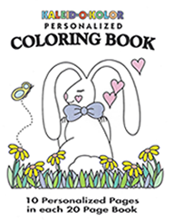 Personalized Bunny Coloring Book