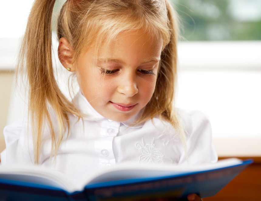 Girl Reading Personalized Story